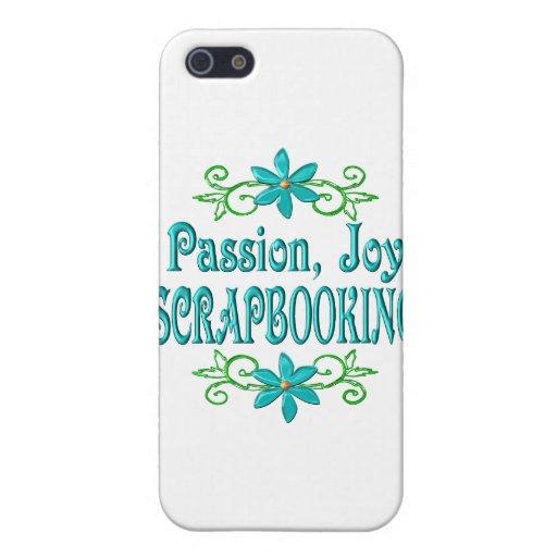Alegría Scrapbooking de la pasión iPhone 5 Protectores
