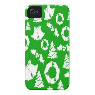 alegría verde de la paz del día de fiesta del navi Case-Mate iPhone 4 cárcasas