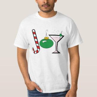 Alegría verde del navidad camisas