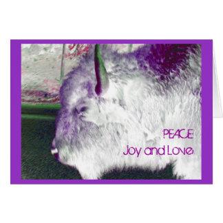 Alegría y amor de la paz del búfalo de Yellowstone Tarjeta Pequeña