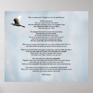 Alegría y dolor de Kahlil Gibran Posters