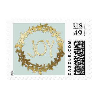 Alegría y falso personalizado del día de fiesta de timbres postales