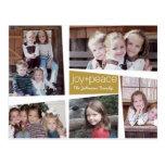 Alegría y paz retras - oro del collage del día de postales