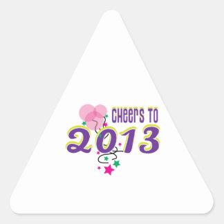 Alegrías a 2013 calcomanía trianguloada