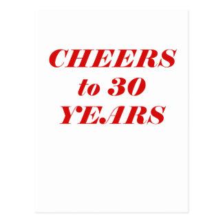 Alegrías a 30 años postales