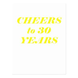 Alegrías a 30 años postal