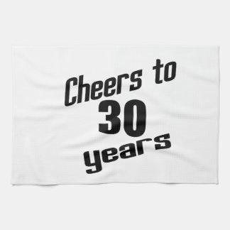 Alegrías a 30 años toalla de cocina