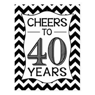 Alegrías a 40 años postal