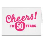 Alegrías a 50 años de cumpleaños tarjetas