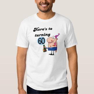 Alegrías a 60 camisetas y regalos del cumpleaños playeras