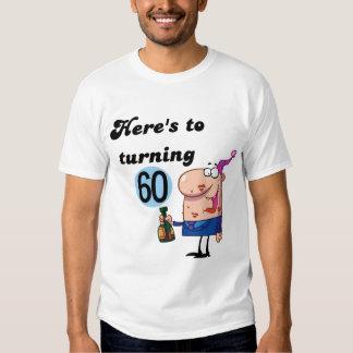Alegrías a 60 camisetas y regalos del cumpleaños poleras