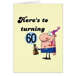 Alegrías a 60 camisetas y regalos del cumpleaños tarjeta de felicitación