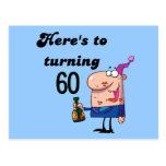 Alegrías a 60 camisetas y regalos del cumpleaños postal