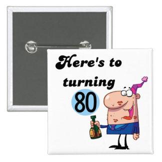Alegrías a 80 camisetas y regalos del cumpleaños pin