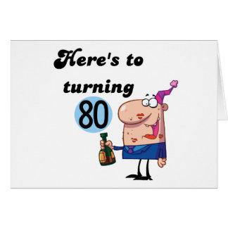 Alegrías a 80 camisetas y regalos del cumpleaños tarjetas