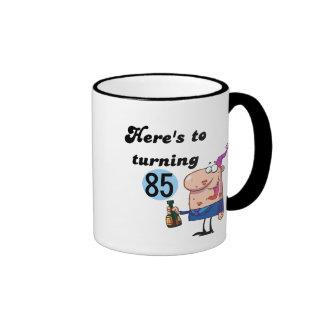 Alegrías a 85 camisetas y regalos del cumpleaños taza de café