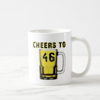 Alegrías a cuarenta y seis. Cumpleaños Taza De Café