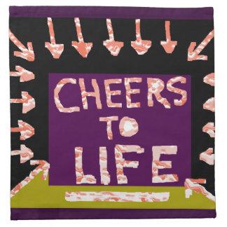 Alegrías a la vida - el artista hizo adornos a man servilleta imprimida