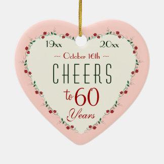 Alegrías a los 60.os regalos del navidad del ornamento de reyes magos