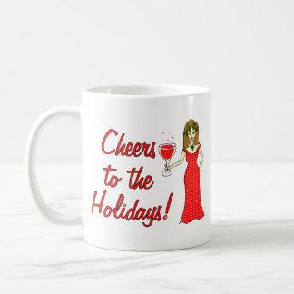 ¡Alegrías a los días de fiesta!  Diosa del vino es Tazas De Café