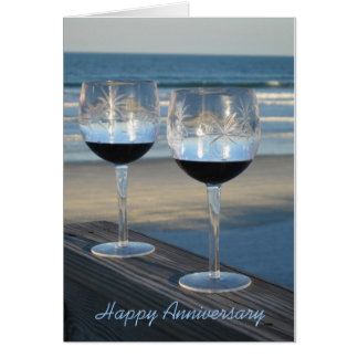 """Alegrías - aniversario feliz"" - tarjeta de felici"