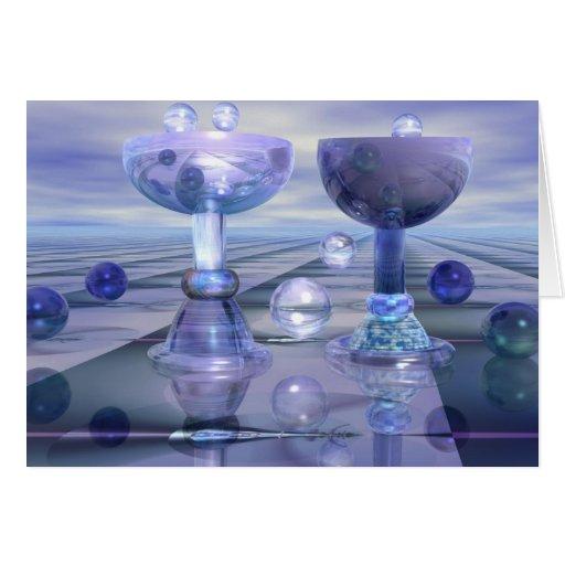 Alegrías con las burbujas tarjeta de felicitación