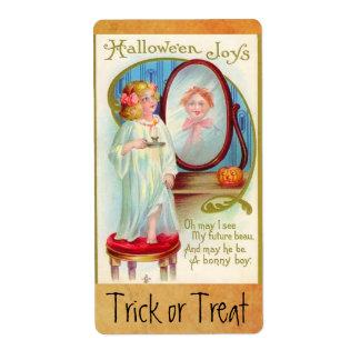 Alegrías de Halloween del vintage Etiquetas De Envío