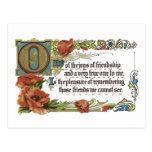 Alegrías de la amistad tarjeta postal