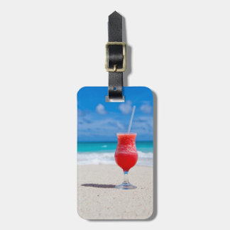Alegrías de la playa etiquetas de equipaje