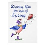 Alegrías de la primavera - tarjeta de felicitación