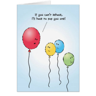 Alegrías de la tarjeta de felicitación del globo d