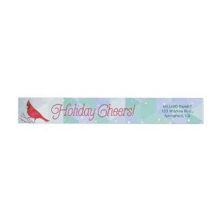 Alegrías de las vacaciones de invierno etiquetas postales