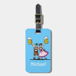Alegrías de los pares de la cerveza de Oktoberfest Etiquetas De Maletas