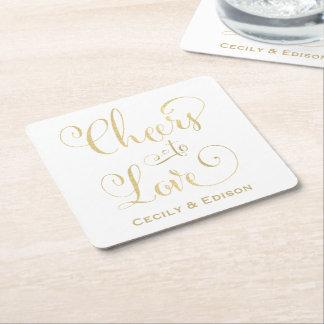 Alegrías de los prácticos de costa el   del boda posavasos personalizable cuadrado