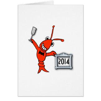 Alegrías del Año Nuevo de los cangrejos/de la Tarjeta De Felicitación
