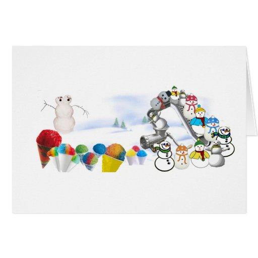 Alegrías del invierno tarjeta de felicitación