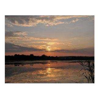 Alegrías del verano, puesta del sol en el condado tarjetas postales