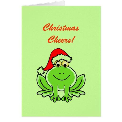 Alegrías divertidas del navidad del gorra de Papá  Felicitacion