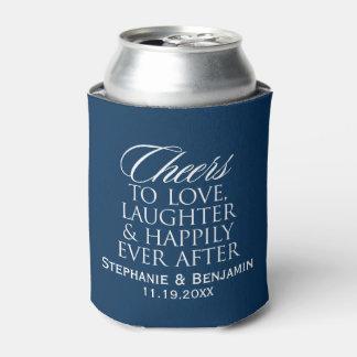 Alegrías para amar risa feliz nunca después de enfriador de latas