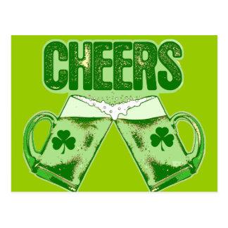 Alegrías verdes de la cerveza postal