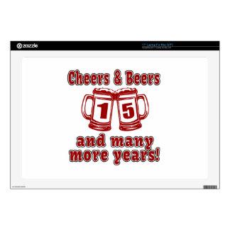 Alegrías y cervezas 15 años 43,2cm portátil calcomanía