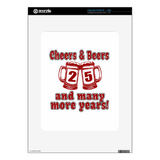 Alegrías y cervezas 25 años skins para iPad