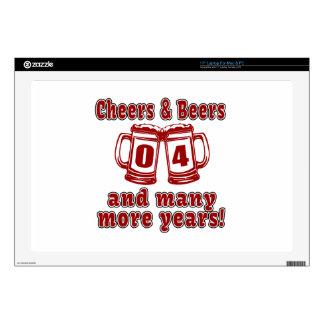 Alegrías y cervezas 4 años skins para 43,2cm portátiles