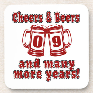 Alegrías y cervezas 9 años posavasos de bebidas