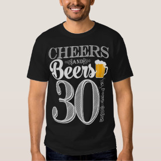 Alegrías y cervezas a los 30 años la camiseta de playera