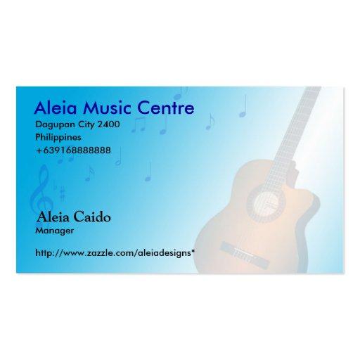 Aleia Music Business Card