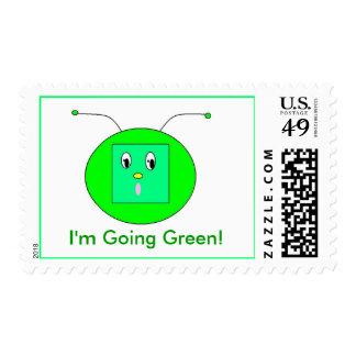 Alein, I'm Going Green! Postage