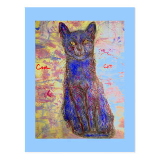 alejamiento fresco del gato tarjetas postales