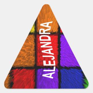ALEJANDRA ( female names ) Triangle Sticker