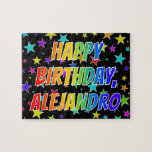 "[ Thumbnail: ""Alejandro"" First Name, Fun ""Happy Birthday"" Jigsaw Puzzle ]"